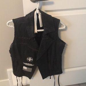 Affliction leather vest